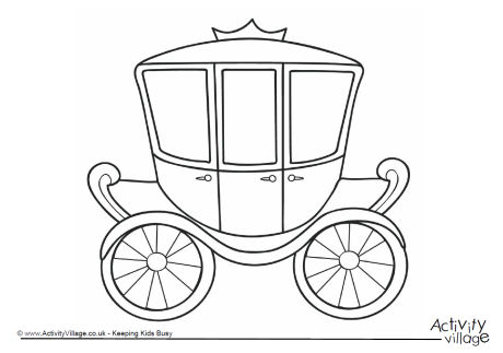 Carriage Colouring Page 2