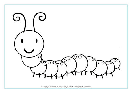 Caterpillar Colouring Page