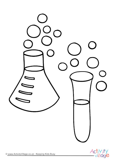 Chemistry Colouring Page