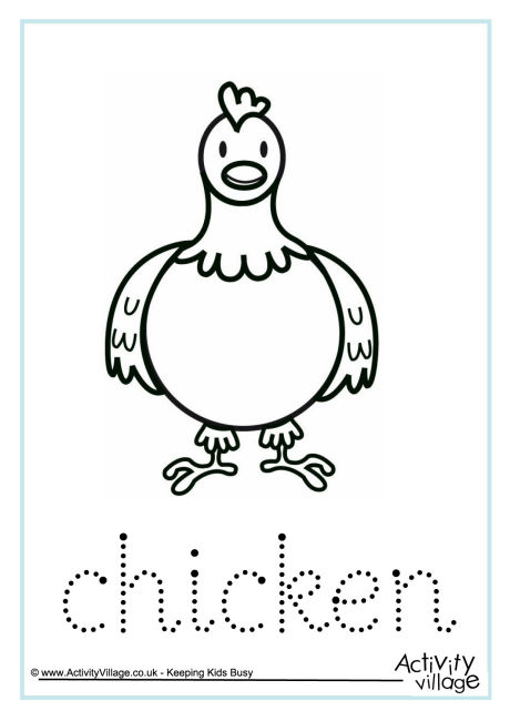 Chicken Word Tracing