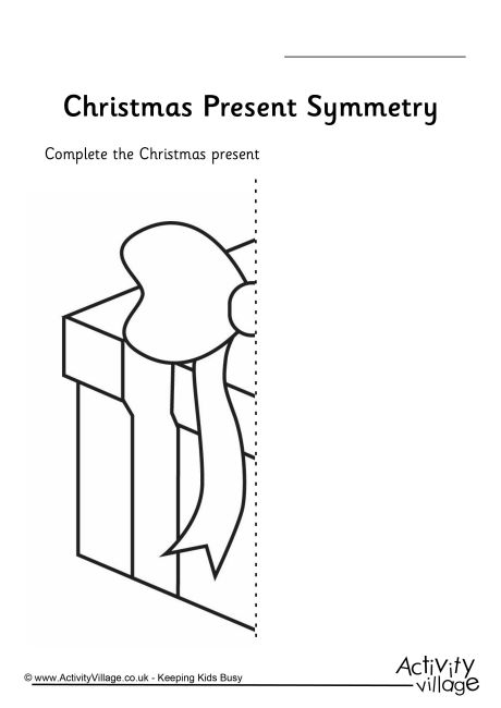Christmas Present Symmetry Worksheet