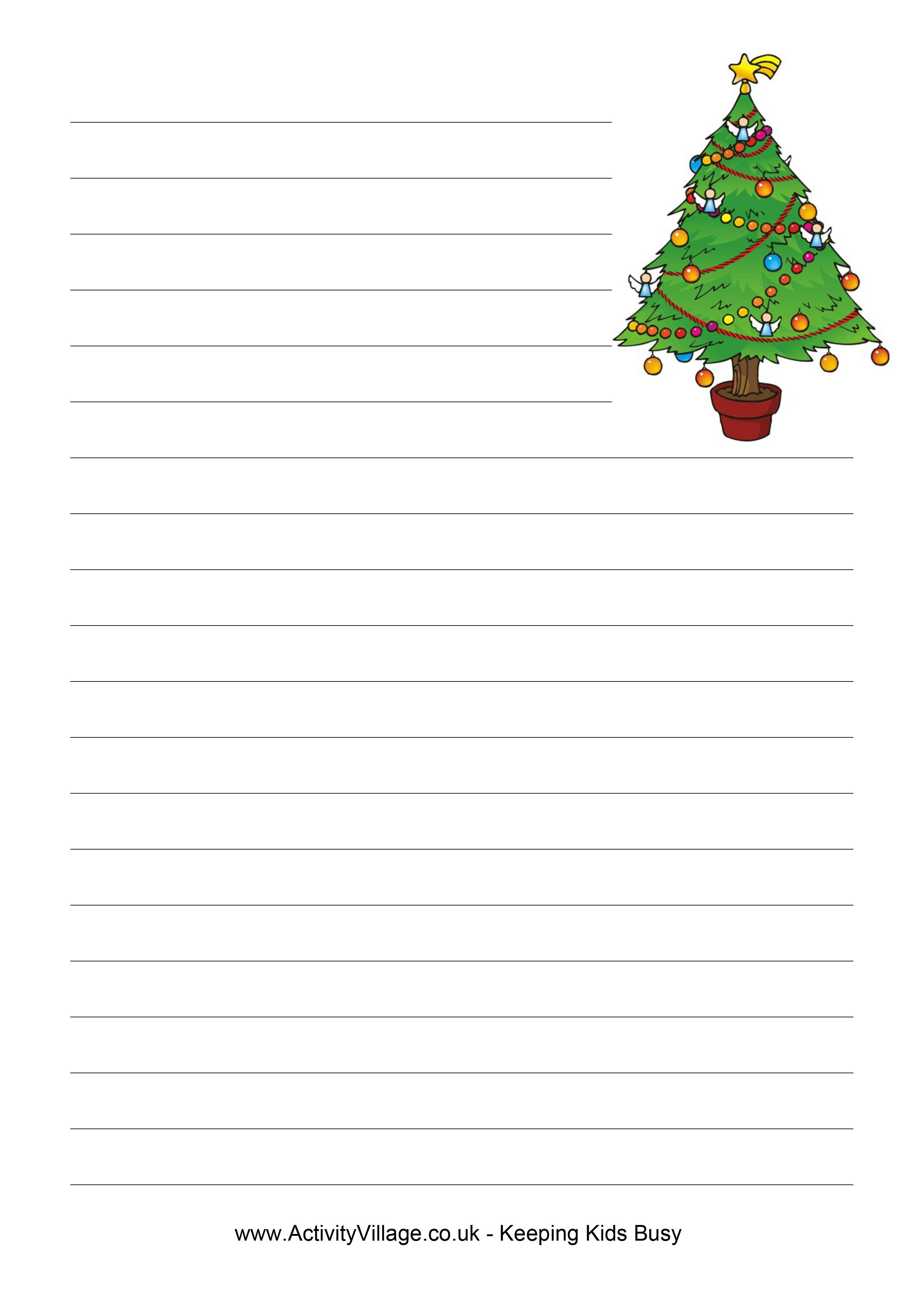 Download Free Christmas Writing Paper Template