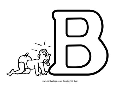 Colouring Alphabet B