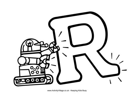 letter r coloring page # 13
