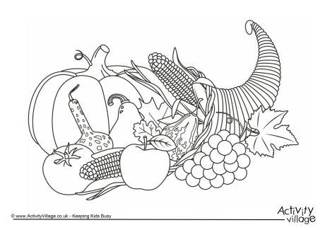 Cornucopia Colouring Page