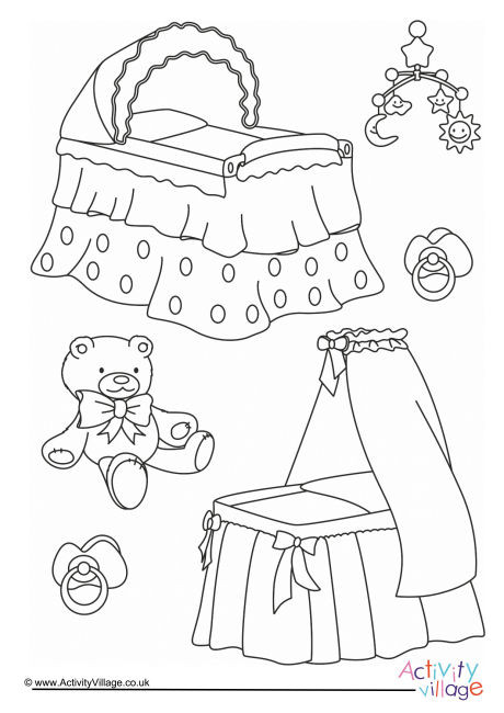 Baby Fun Colouring Page