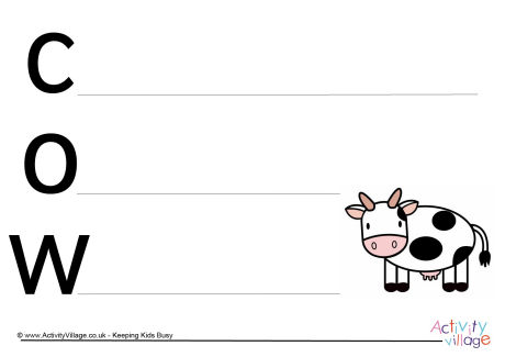 Cow Acrostic Poem Printable