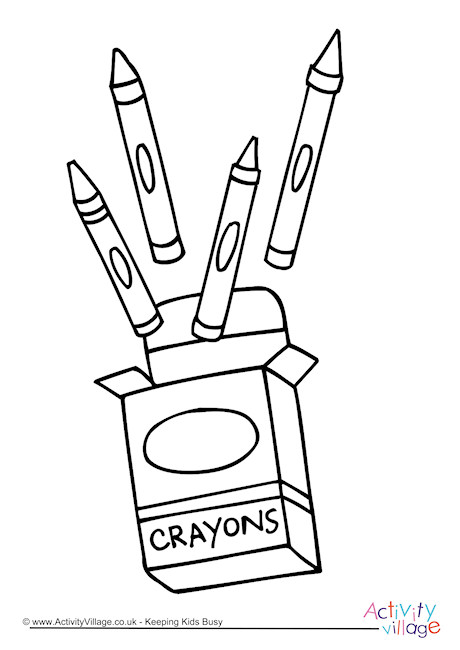 Crayons Colouring Page 3