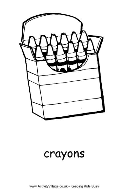 Crayons Colouring Page