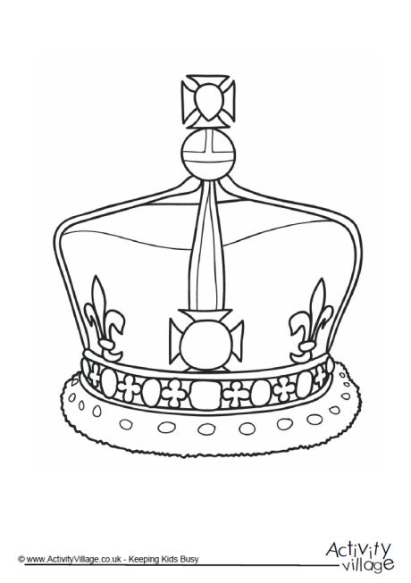 Crown Colouring Page 1