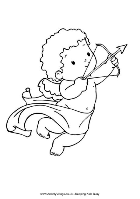 Cupid Colouring Page