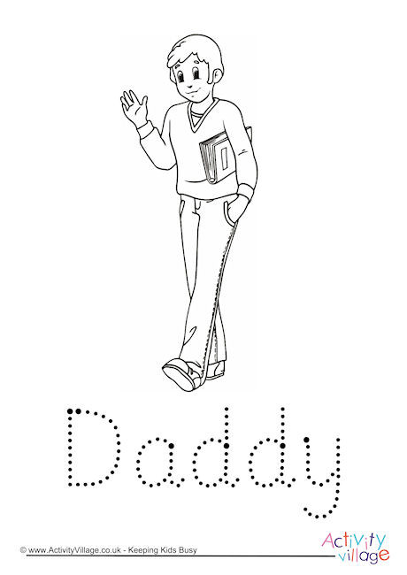 Daddy Word Tracing