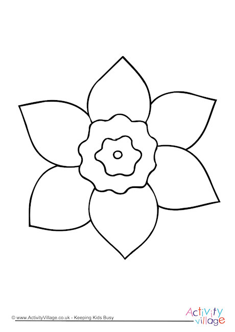 Daffodil Colouring Page 4
