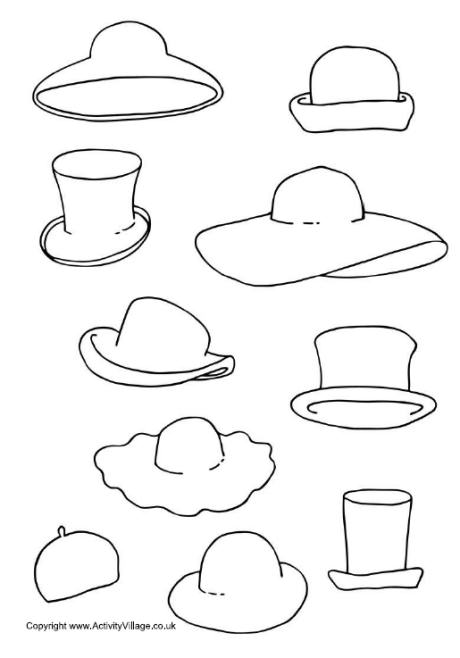 Decorate The Hats Printable