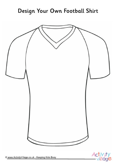 printable football jersey cut outs