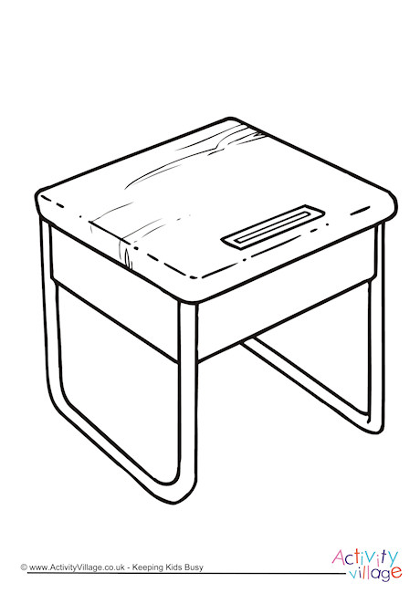 Coloring Computer Desk Coloring Pages