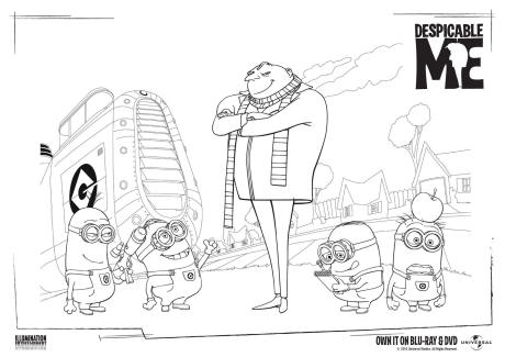 Despicable Me Colouring Page 1