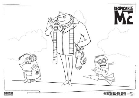 Despicable Me Colouring Page 2