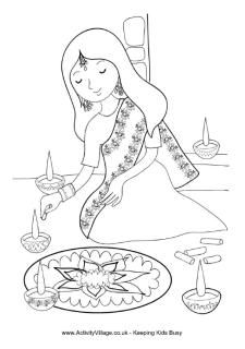 Diwali Colouring Cards