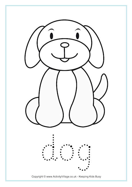 Dog Word Tracing