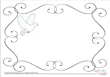 Dove of Peace Frame