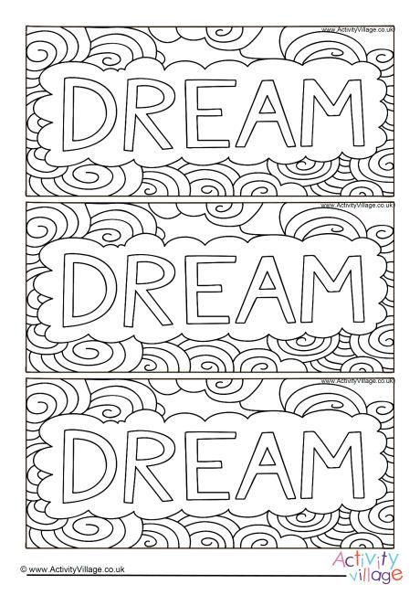 Dream Colouring Bookmarks
