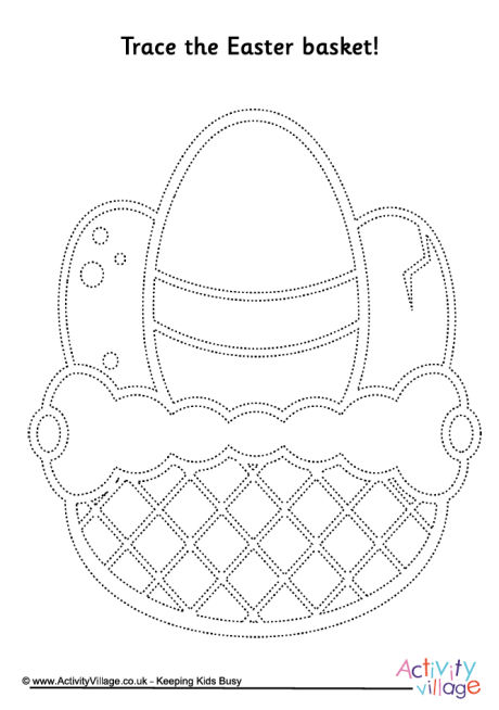 Easter Basket Tracing Page