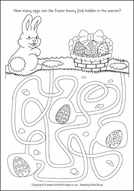 Easter Bunny Maze