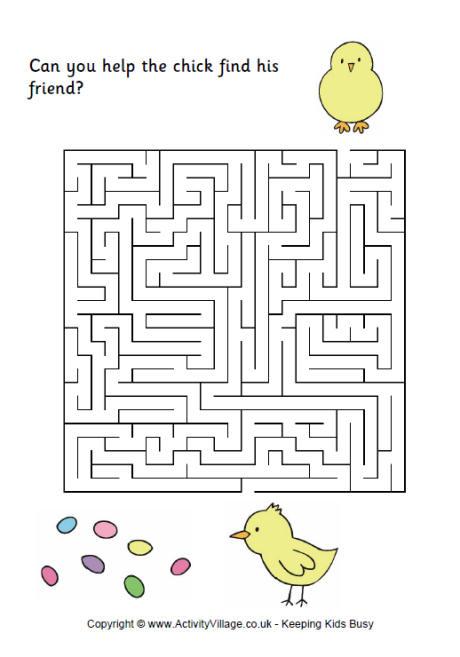 Easter Maze 1