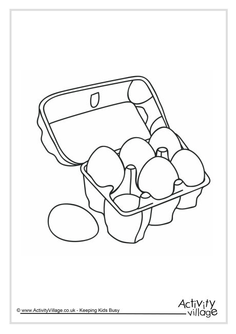 Eggs Colouring Page 2