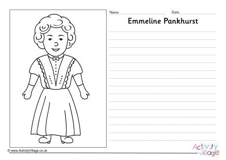Emmeline Pankhurst Story Paper