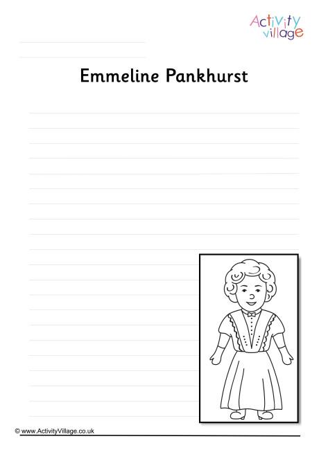 Emmeline Pankhurst Writing Page