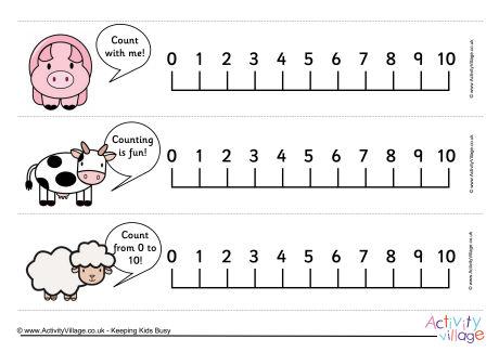 Farm Animals Number Line 0-10