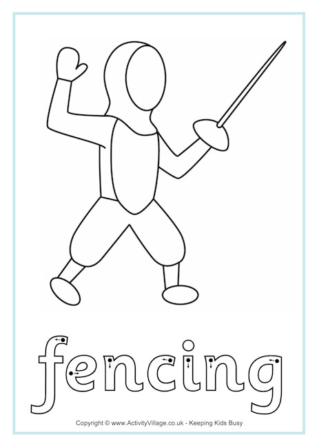 Fencing Finger Tracing