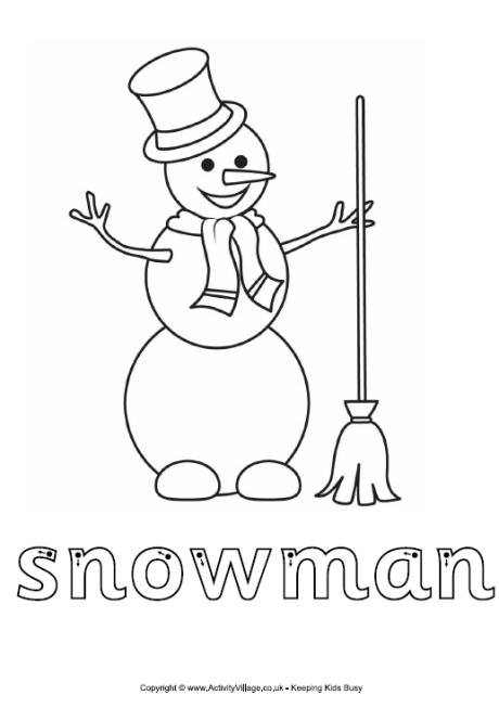 Snowman Finger Tracing