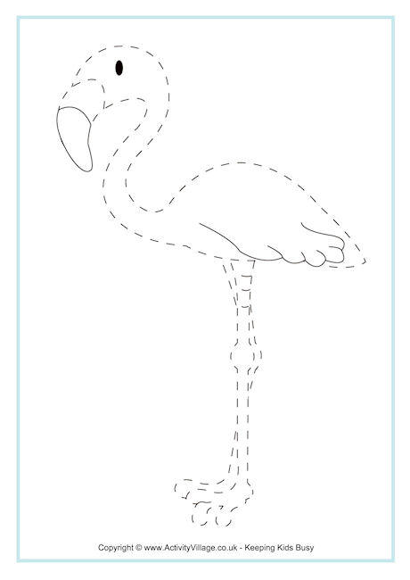 Flamingo Tracing Page