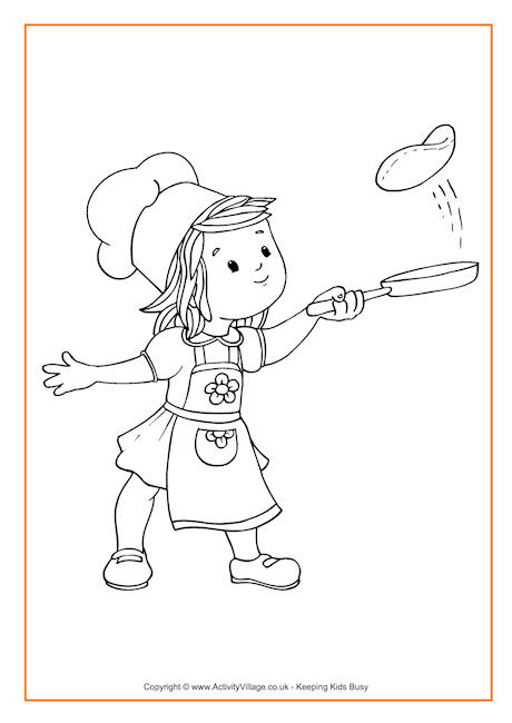 Pancakes Coloring Page Pages Sketch Coloring Page