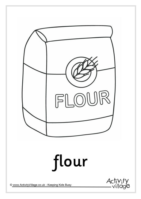 Coloring Pages Baking Flour Coloring Pages