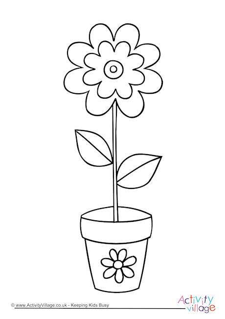 Flower Colouring Page 3