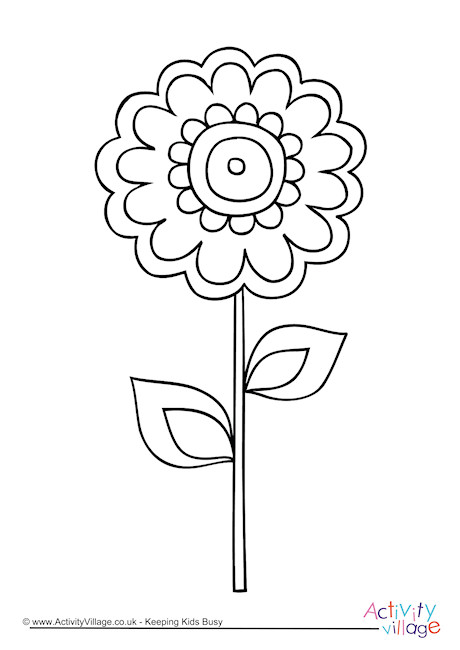 Flower Colouring Page 4