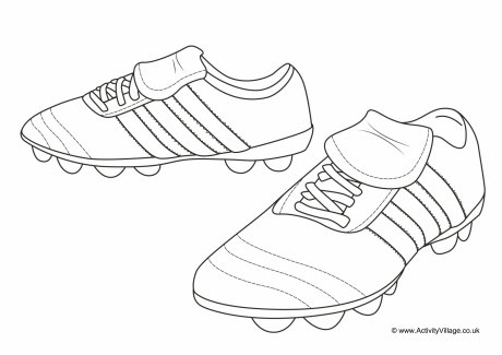 Football Boots Colouring Page