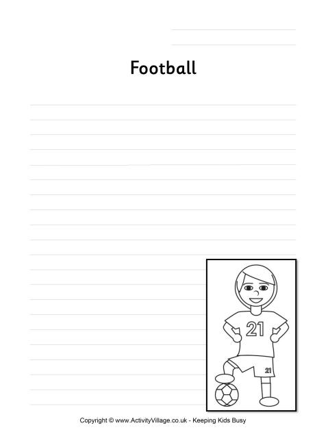 Football Writing Page