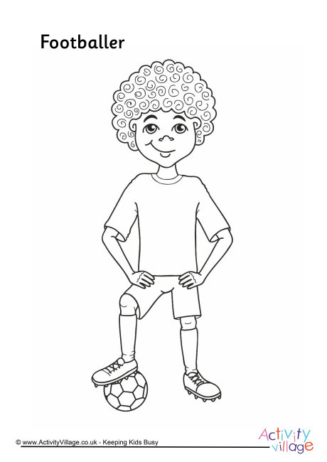 Footballer Colouring Page 2