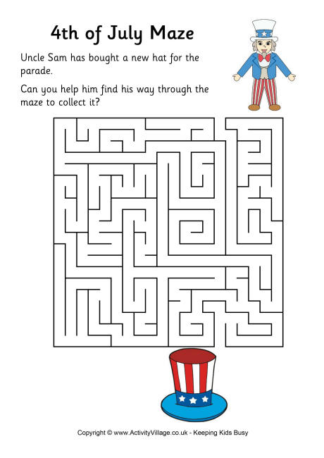 Fourth of July Maze