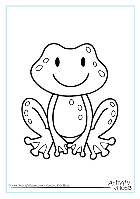 Frog Colouring Page 2