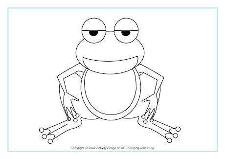 Frog Colouring Page