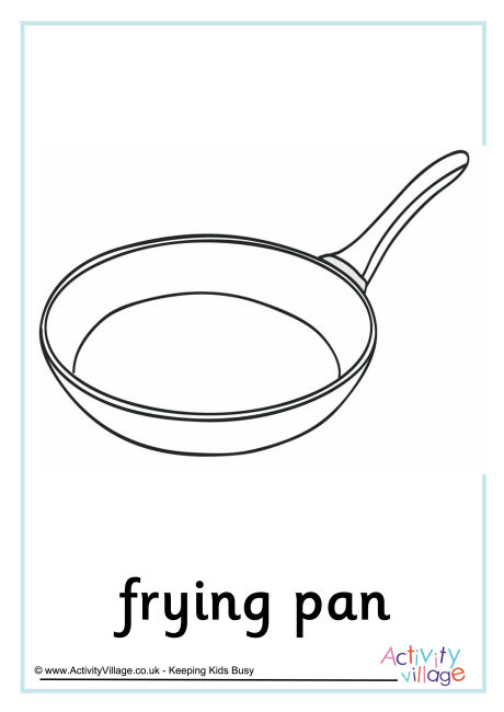 Frying Pan Colouring Page