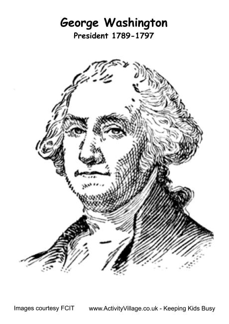 George Washington Colouring Page