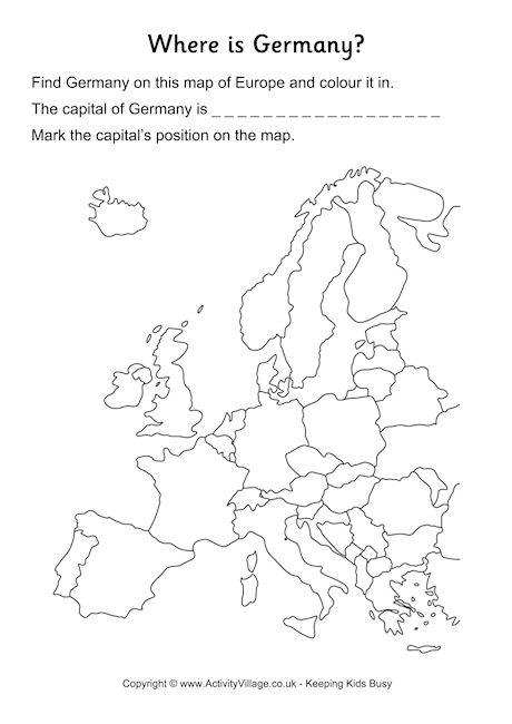 Germany Location Worksheet