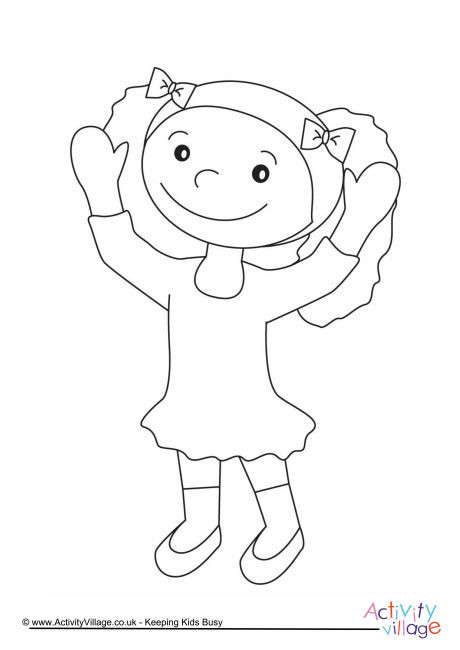 Girl Colouring Page 14